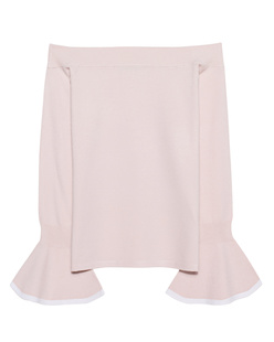 STEFFEN SCHRAUT Fine Knit Off Shoulder Rose