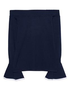 STEFFEN SCHRAUT Off Shoulder Knit Navy