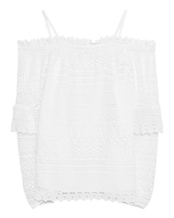 STEFFEN SCHRAUT Off-Shoulder Lace White