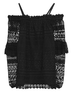 STEFFEN SCHRAUT Off-Shoulder Lace Black