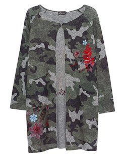 PRINCESS GOES HOLLYWOOD Flower Detail Camo Green