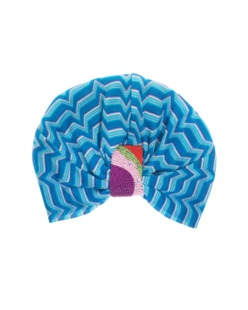 Missoni Mare Turbante Zig Zag Beads Blue