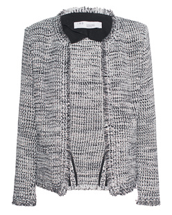 IRO Tweed Lurex White Grey