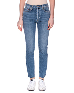 REDONE High Rise Ankle Crop Blue
