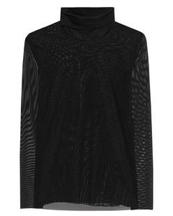 STEFFEN SCHRAUT Turtleneck Semi-Transparent Black