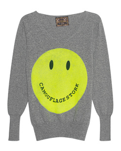CAMOUFLAGE COUTURE STORK Cashmere Smiley Grey