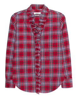 Isabel Marant Étoile Dawendy Red Checked Red