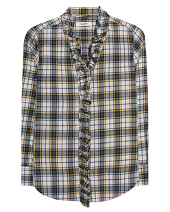 Isabel Marant Étoile Dawendy Dark Green Yellow Check