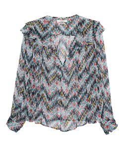 Isabel Marant Étoile Enfield Printed Chiffon Multicolor