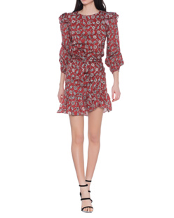 Isabel Marant Étoile Telicia Printed Linen Rust Red