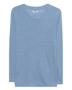 Isabel Marant Étoile Kaaron Light Blue Linen Tee Light Blue