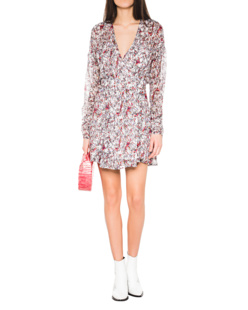 IRO Bustle Wrap Dress Off-White