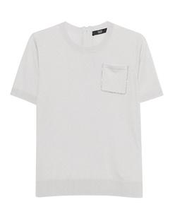 STEFFEN SCHRAUT Cashmere Pocket Rhinestone White