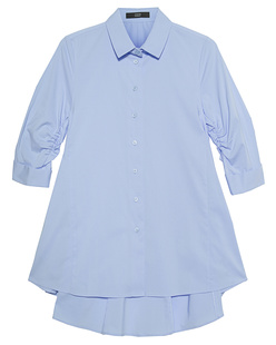 STEFFEN SCHRAUT Peplum Collar Button Light Blue