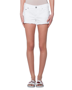 TRUE RELIGION Keira Fray Short Optic White