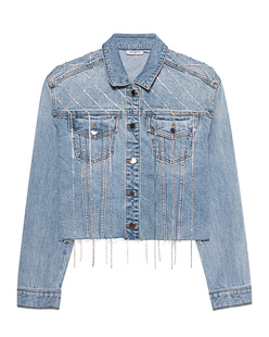 TRUE RELIGION Trucker Christaline Denim Blue