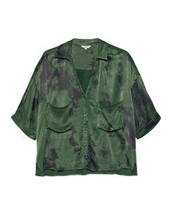 FROGBOX Chest Pocket Tie Dye Green
