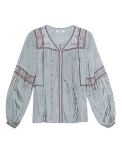 Isabel Marant Étoile Tosca Silk Embroidery Grey