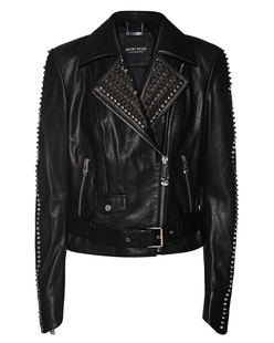 JEREMY MEEKS Leather Biker Black