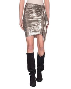IRO Saria Skirt Gold
