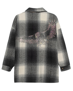 CAMOUFLAGE COUTURE STORK Checked Eagle Black