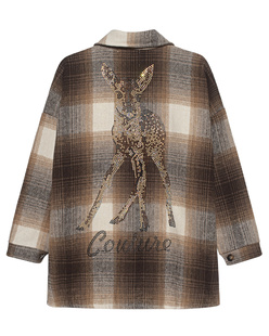 CAMOUFLAGE COUTURE STORK Checked Bambi Brown