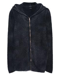 AVANT TOI Wool Hoody Zip Black