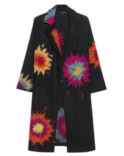 AVANT TOI Coat Painting Flower Black