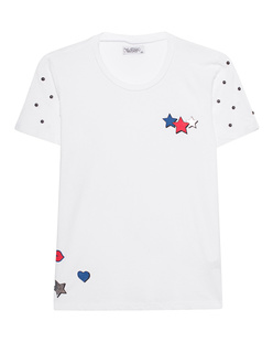 LAUREN MOSHI Croft Foil Star Lip White