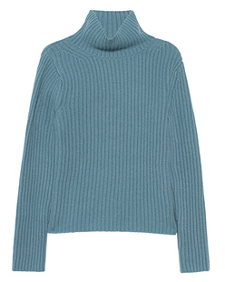 (THE MERCER) N.Y. Stand Up Collar Ribbed Cashmere Light Blue