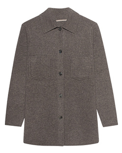 (THE MERCER) N.Y. Overshirt Cashmere Melange Taupe