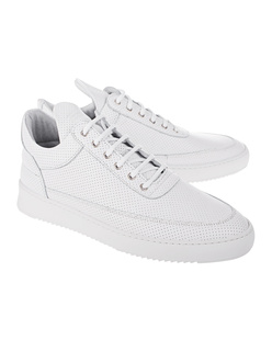 Filling Pieces Low Top Ripple Nappa Perforated White