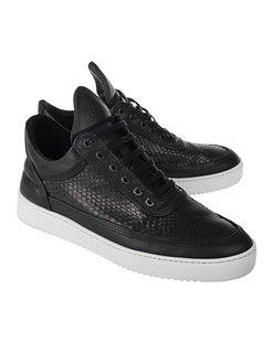 Filling Pieces Low Top Ripple Python Black