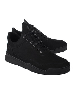 Filling Pieces Low Top Ghost Basic All Black