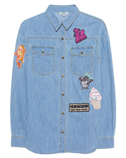KENZO Patches Multi Light Blue