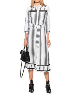 FROGBOX Boho Long Dress Black White