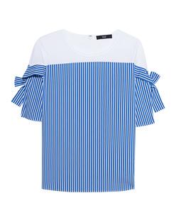 STEFFEN SCHRAUT Tracey Bow Stripe Blue White