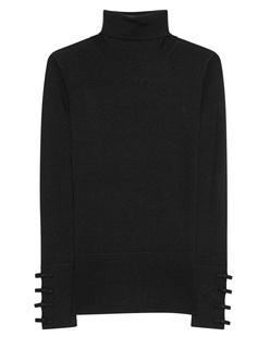 STEFFEN SCHRAUT Turtleneck Knit Ribbon Black