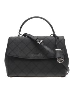 MICHAEL KORS  Ava Medium Saffiano Leather Black