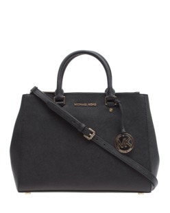 MICHAEL Michael KORS Sutton Saffiano Leather Tote Black
