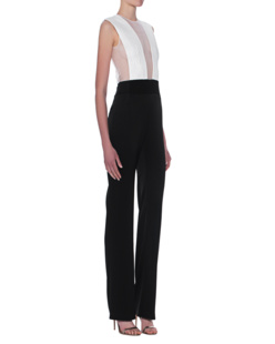 GALVAN LONDON Plunge Jumpsuit Black White