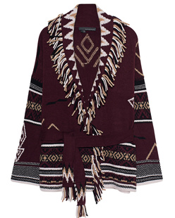 360 SWEATER  Vivian Indian Bordeaux