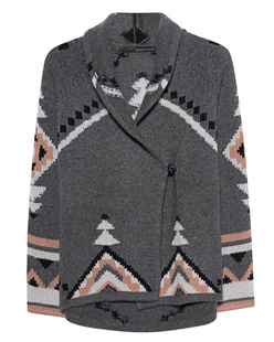 360 SWEATER Koko Muster Anthracite
