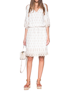 RUBY YAYA Jewel Dress Off White