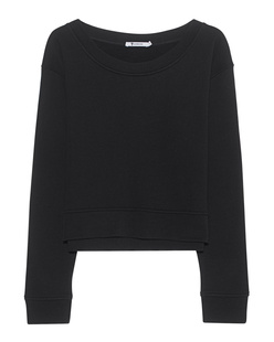 T BY ALEXANDER WANG Soft French Terry Crop Black