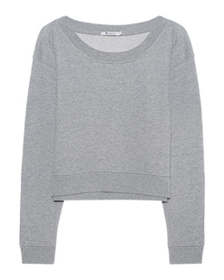 T BY ALEXANDER WANG Soft French Terry Crop Grey