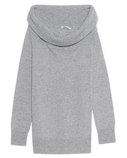 T BY ALEXANDER WANG Cashwool Knit Off The Shoulder Grey