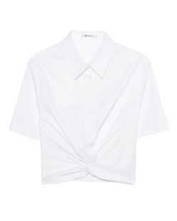 T BY ALEXANDER WANG Twist Front Crop White