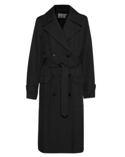 T BY ALEXANDER WANG Flap Trench Black