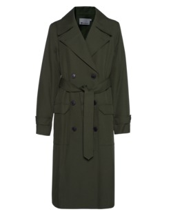 T BY ALEXANDER WANG Flap Trench Olive